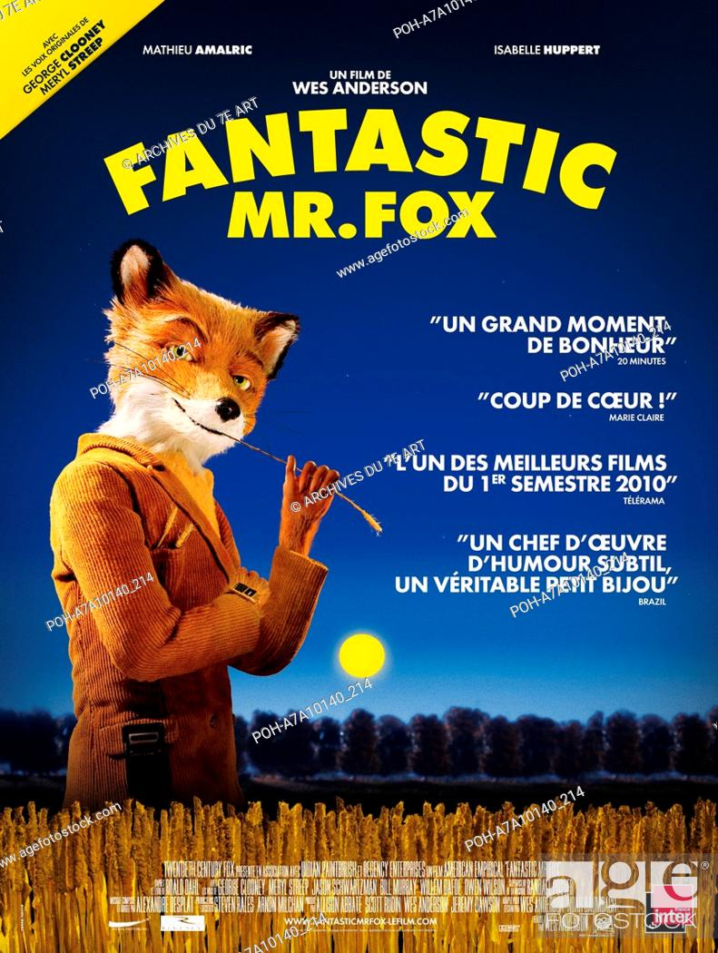 Fantastic Mr Fox Year 2009 Usa Director Wes Anderson Animation Movie Poster Fr Based Upon Stock Photo Picture And Rights Managed Image Pic Poh A7a10140 214 Agefotostock