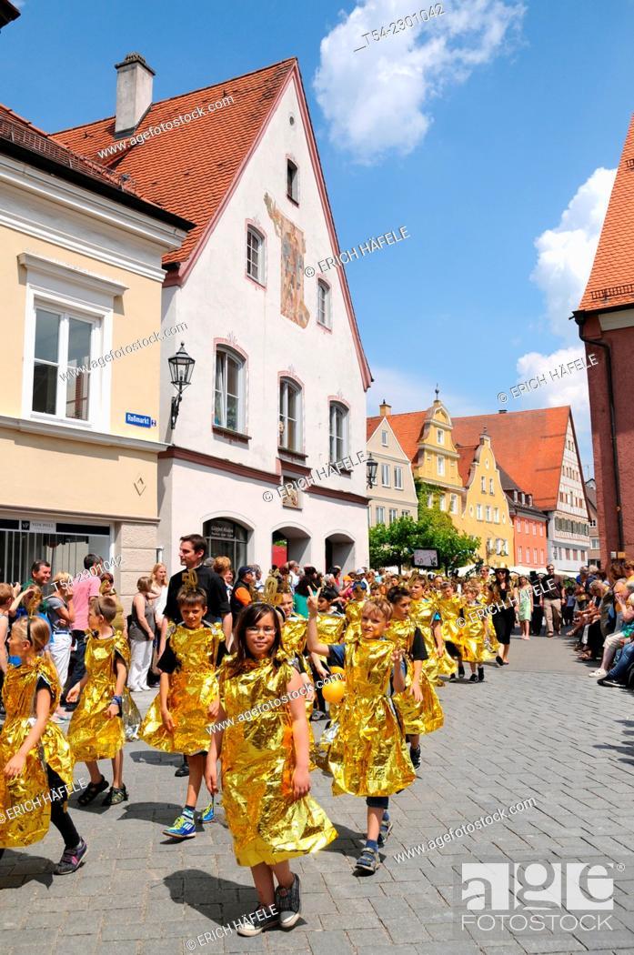 Stock Photo: The children's parade festival in Memmingen, Germany.