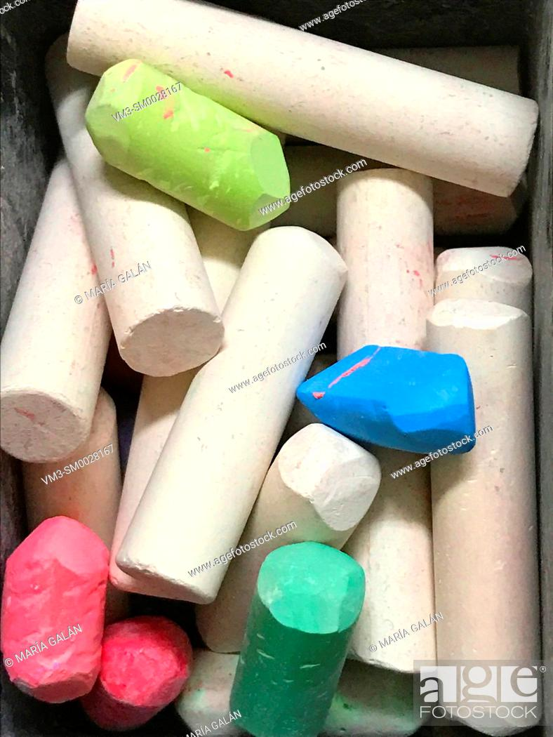 Stock Photo: Assorted chalks.