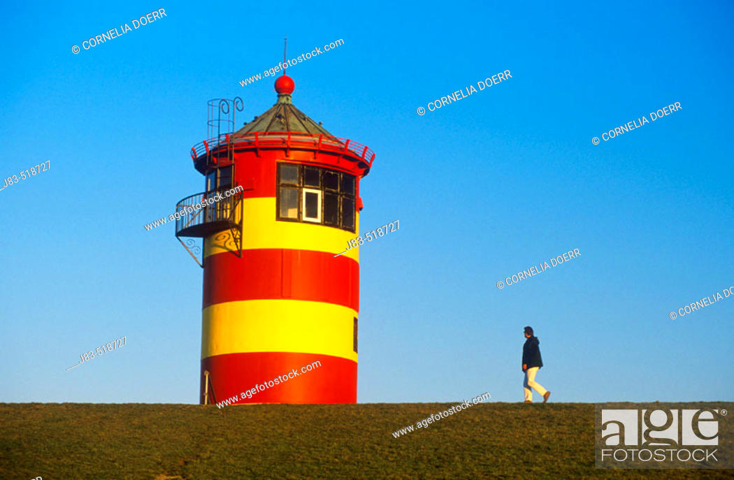 Stock Photo: Lighthouse, Pilsum, Lower Saxony, Germany.