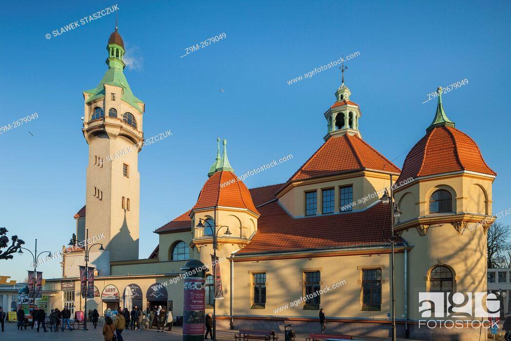 Stock Photo: Evening in Sopot, Pomerania, Poland.