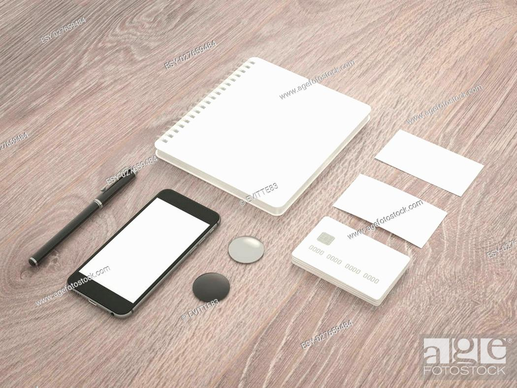 Stock Photo: Template business for branding. High resolution. 3D.
