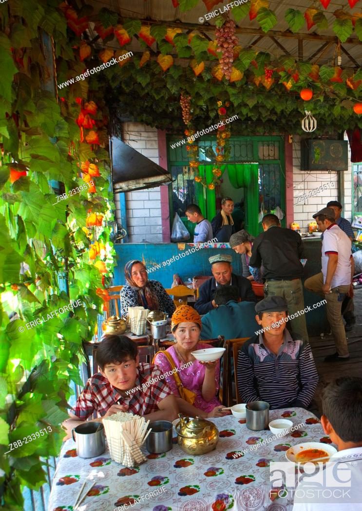 Restaurant In Serik Buya Market, Yarkand, Xinjiang Uyghur
