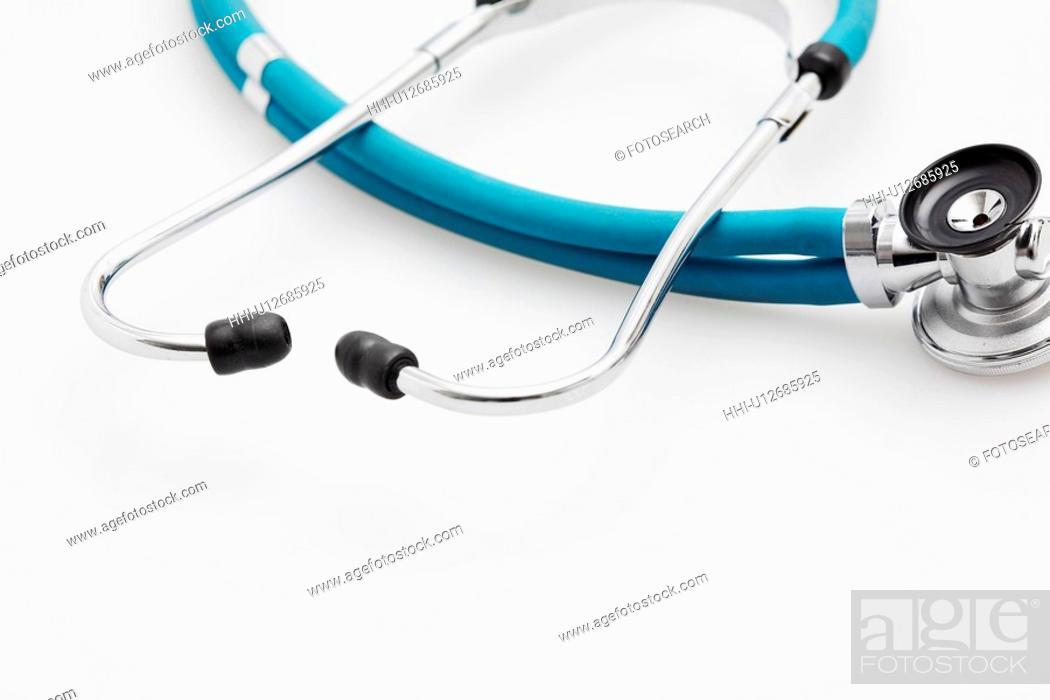 Stock Photo: Single stethoscope (close-up).