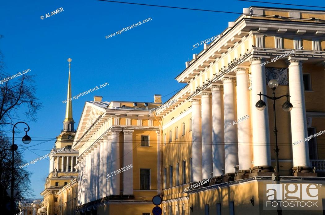 Stock Photo: Russia, St Petersburg, the admiralty.