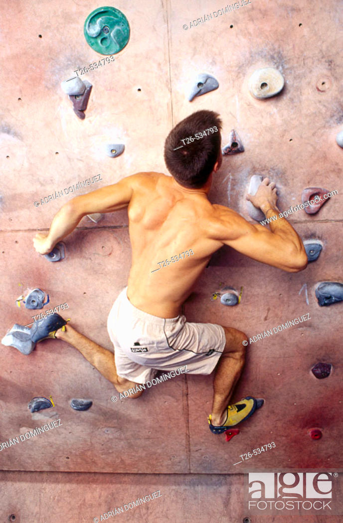 Stock Photo: Pablo Barbero, Spanish Climbing World Champion.