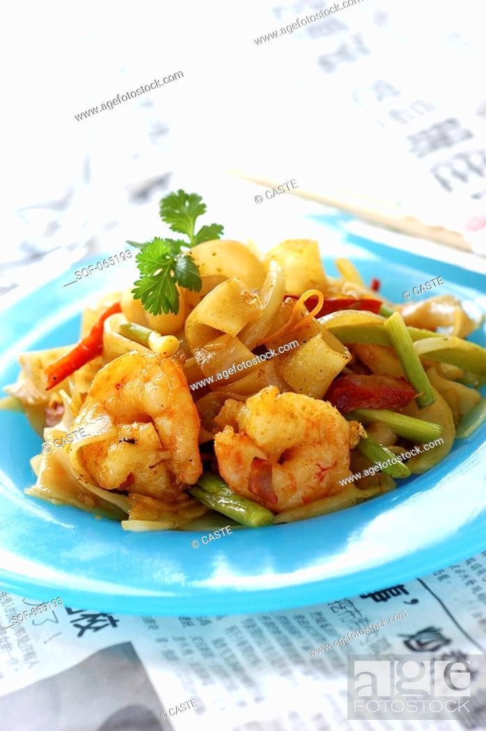 Stock Photo: singapore pasta.