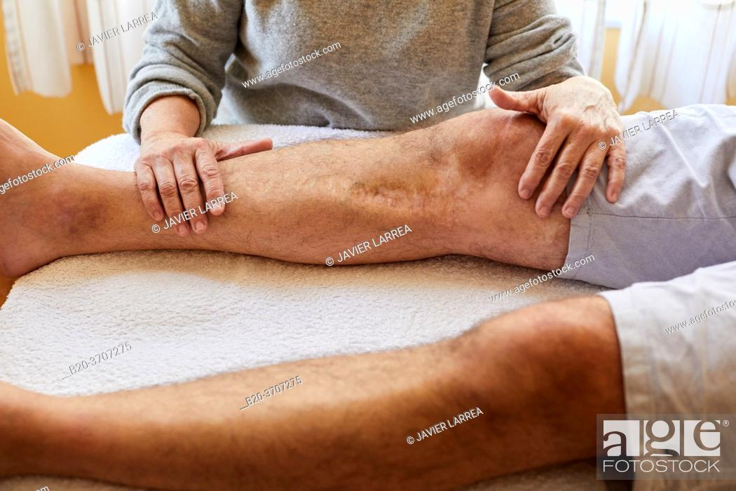 Photo de stock: Osteopathy. Osteopath manipulating a patient.