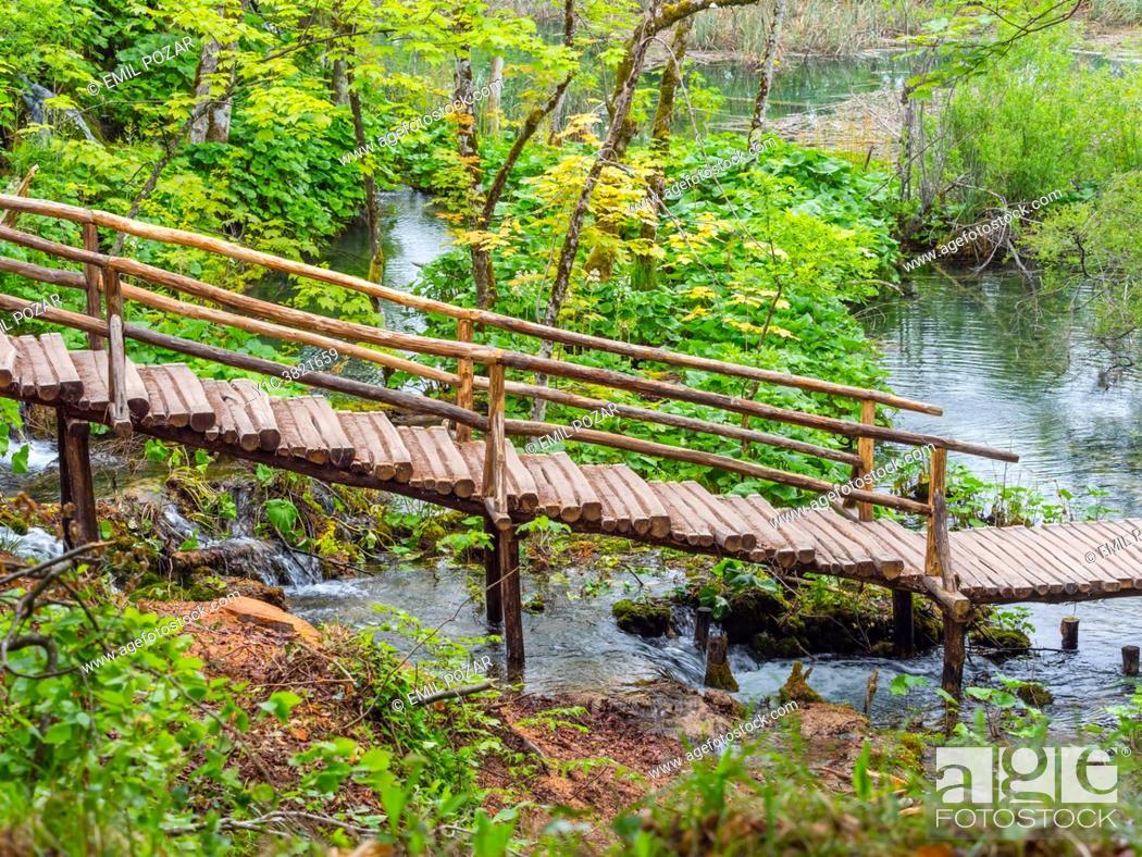 Stock Photo: Spring season Plitvice lakes Croatia Europe.