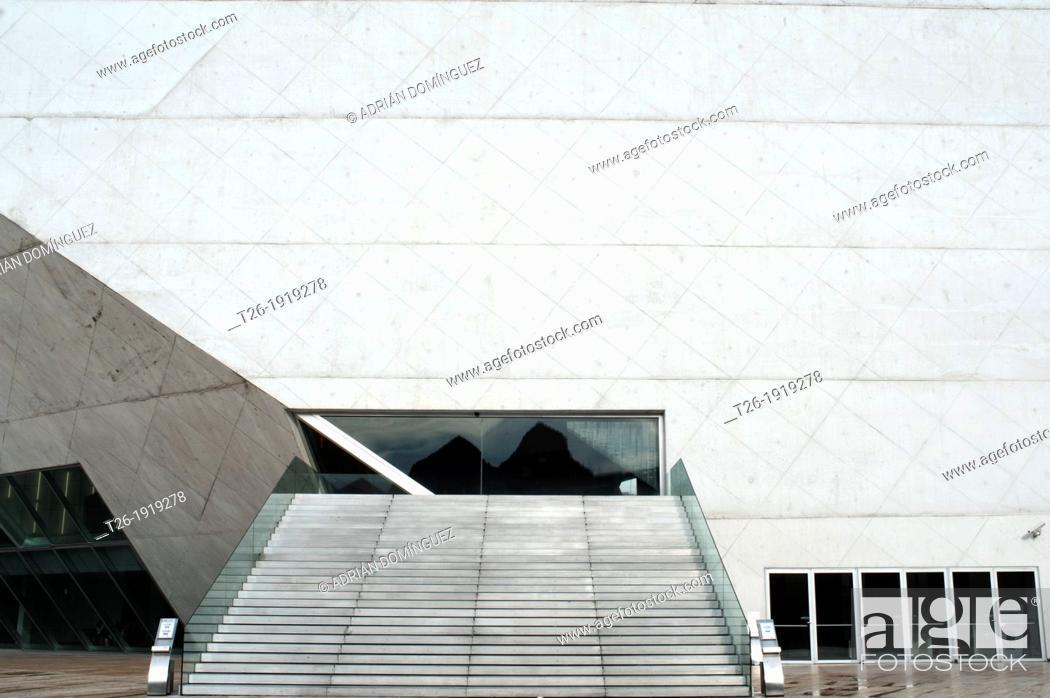 Stock Photo: Front side of Casa da Musica building in Port city, Portugal.