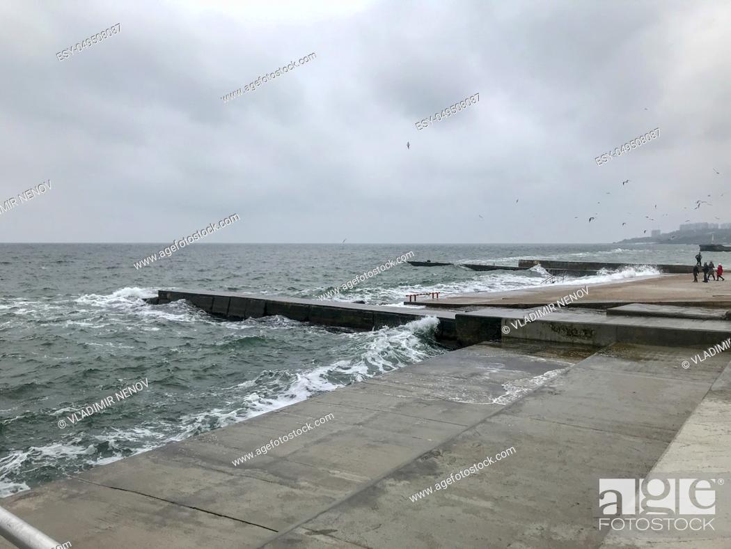Stock Photo: Odessa, Ukraine: Beautiful View To The Sea Coast.