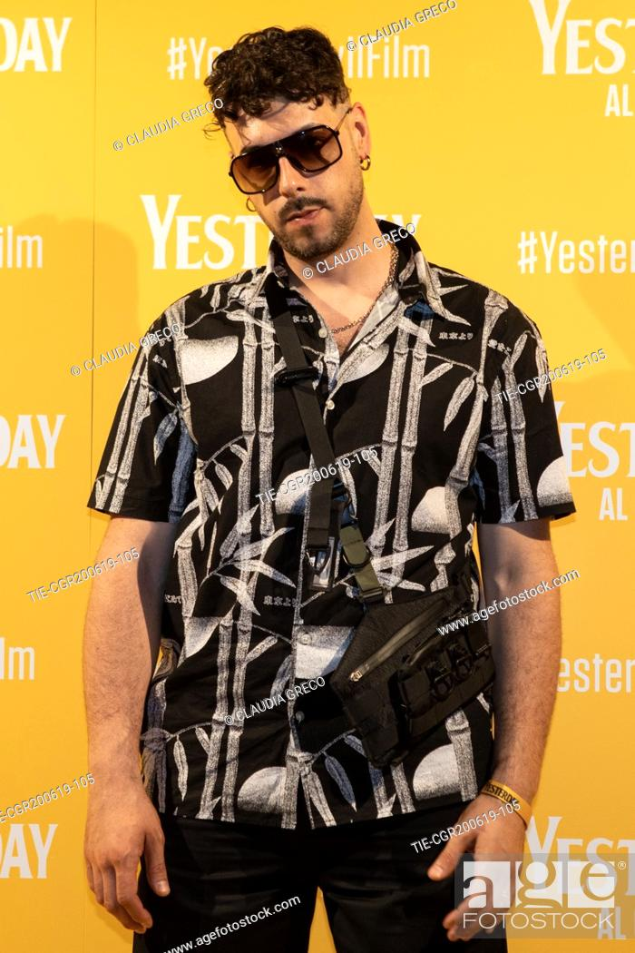 Imagen: Davide Lombardi art name Warez during the photocall of film ' Yesterday ' in Milan, ITALY-20-06-2019.