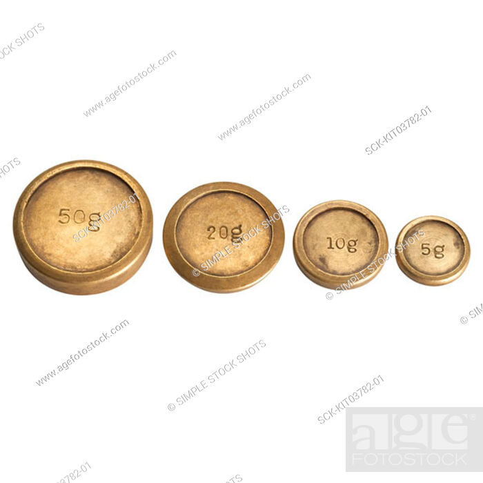 Stock Photo: scale weights.