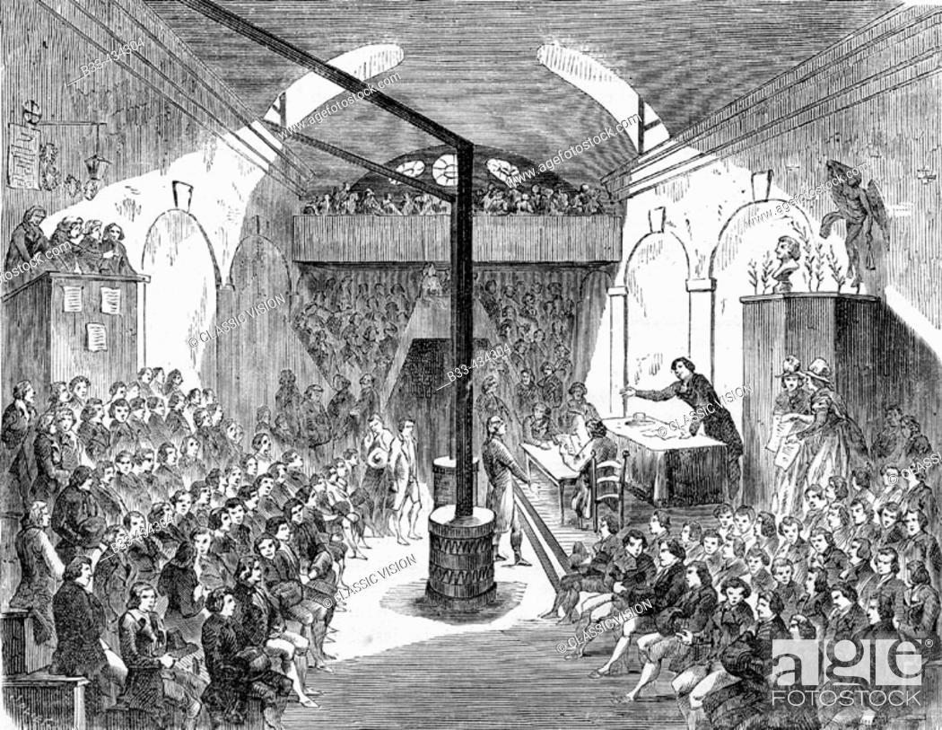 Stock Photo: The Jacobins Club. (1789-1794) From 'Histoire de la Revolution Francaise' by Louis Blanc.