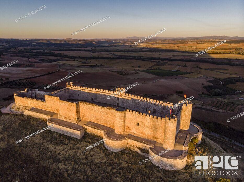 Stock Photo: Castillo del Cid, Jadraque, Guadalajara province, Spain.
