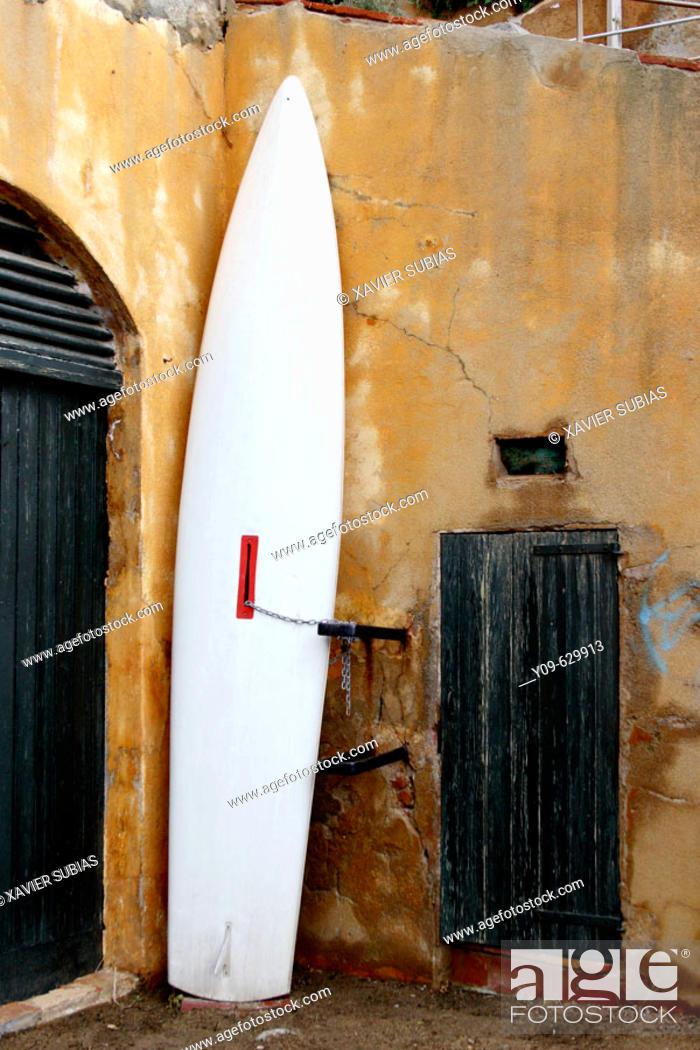 Stock Photo: Surfboard.