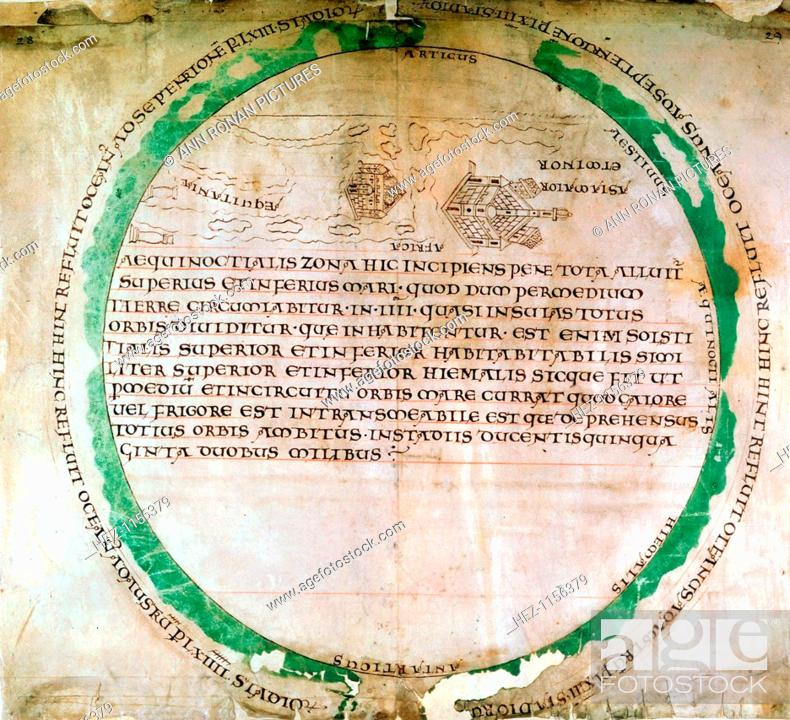Anglo Saxon World Map 10th Century A Map Showing A Flat Earth And