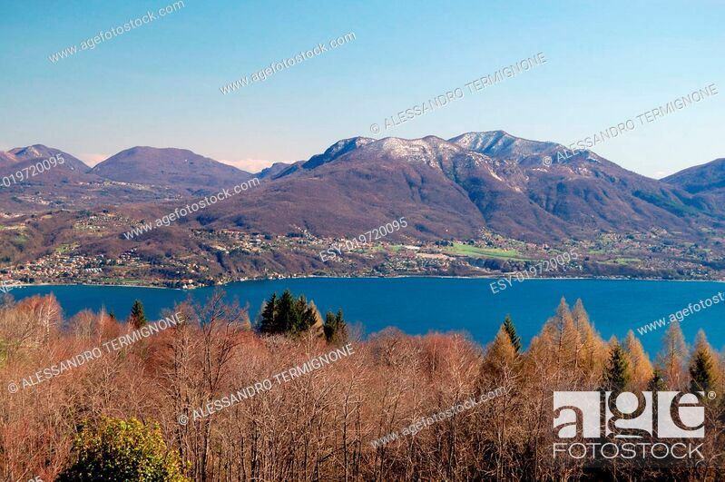 Stock Photo: Panorami View on Maggiore Lake.
