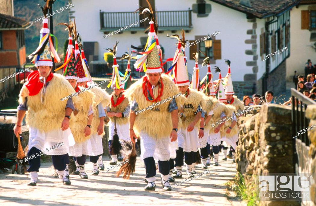 Stock Photo: 'El Zamparzat'. Ituren and Ubieta Carnival. Navarre. Spain.