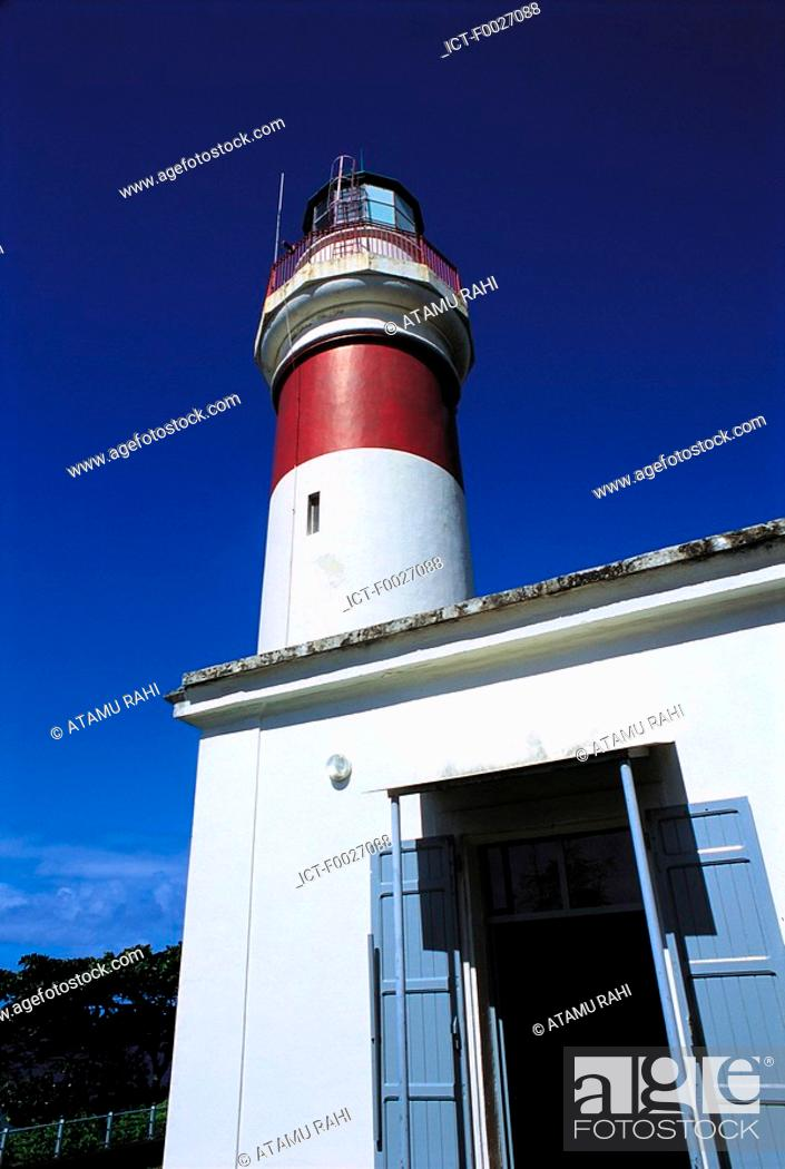 Stock Photo: Reunion, Sainte-Suzanne, ancient lighthouse.