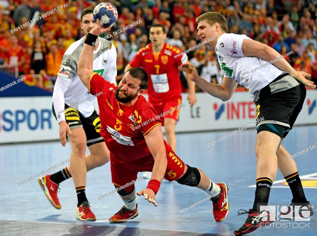 Macedonia S Stojanche Stoilov C In Action Against