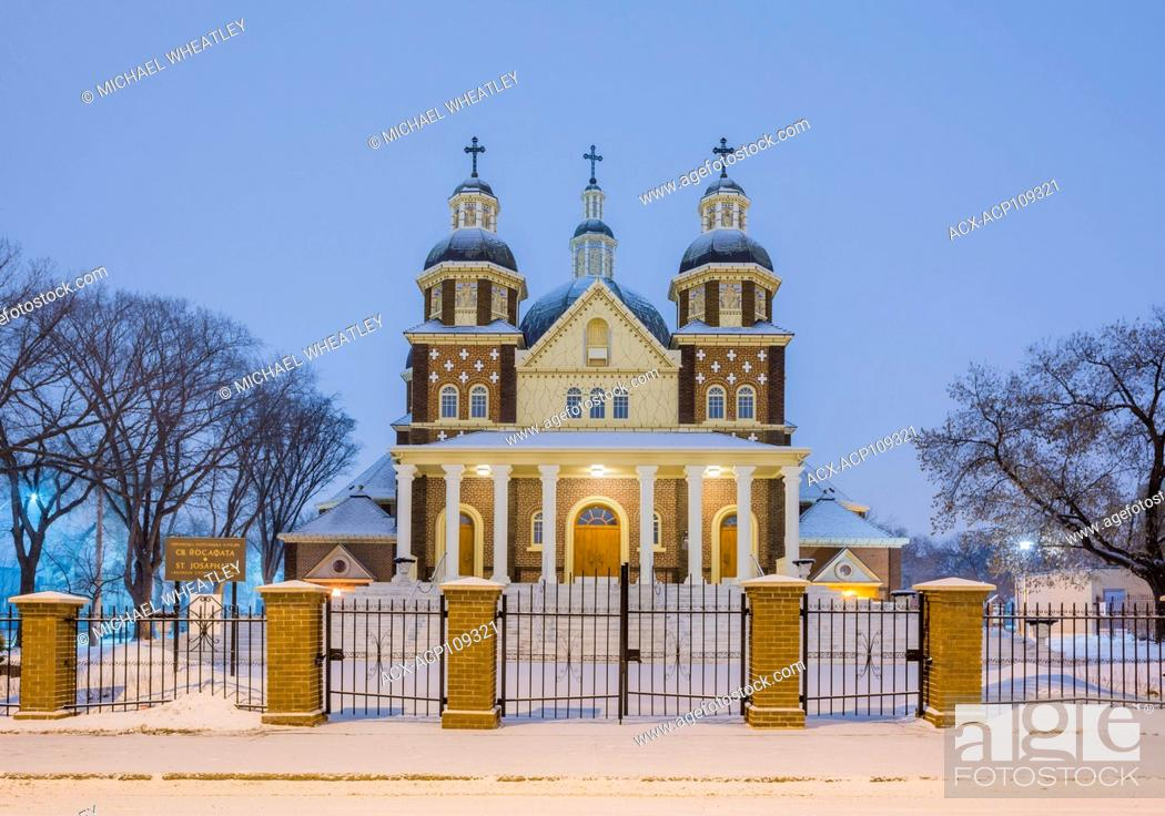 Stock Photo: St. Josephat Cathedral, Edmonton, Alberta, Canada.