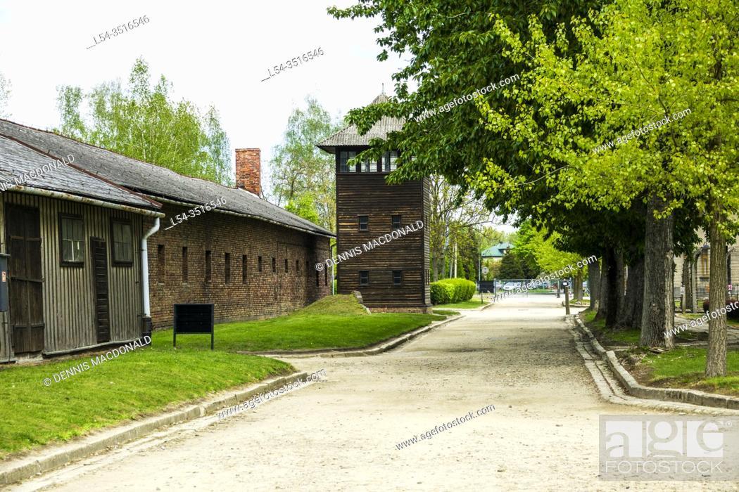 Stock Photo: Auschwitz Birkenau Concentration Camp Museum OŠ›wiÄ. cim Southern Poland Europe EU UNESCO.