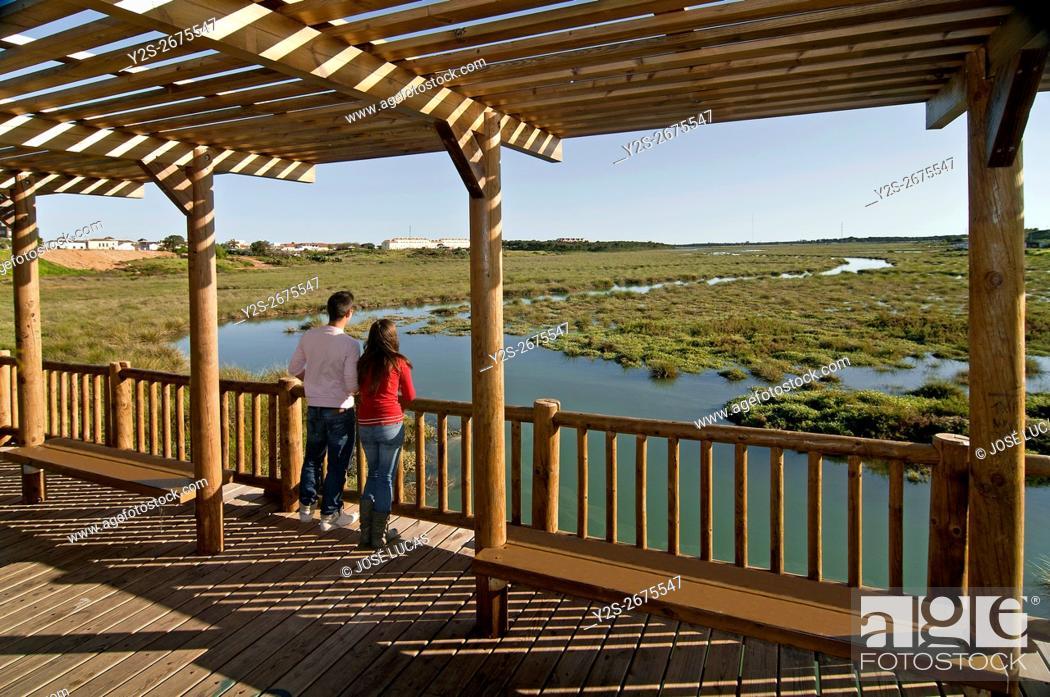Stock Photo: The Odiel Marshes Nature Reserve, Aljaraque, Huelva province, Region of Andalusia, Spain, Europe.