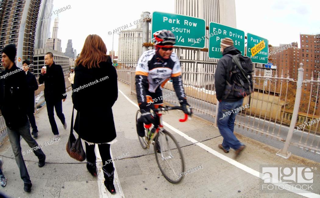 Stock Photo: New York City, brooklyn Bridge , manhattan.