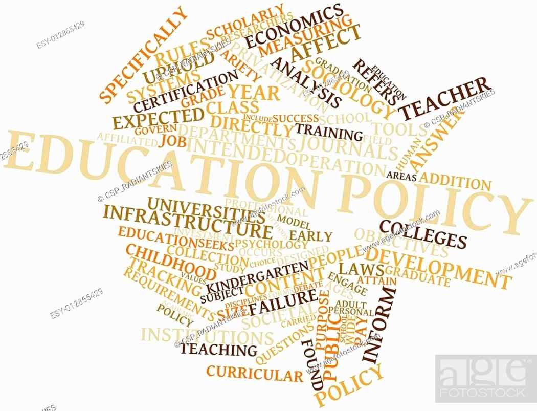 Stock Photo: Word cloud for Education policy.