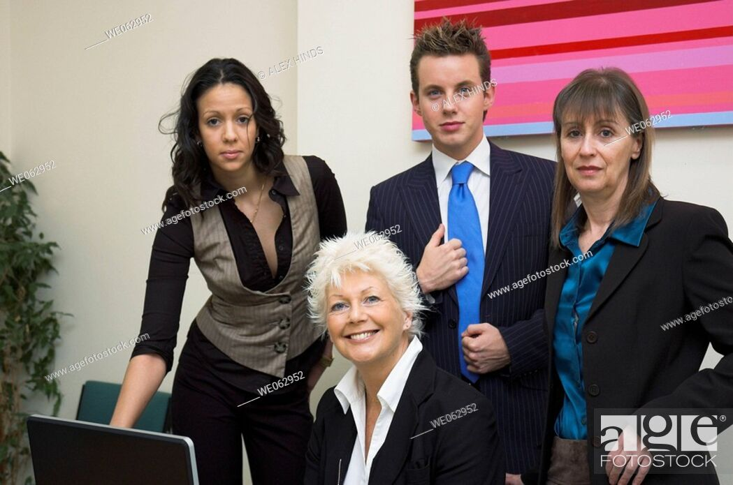 Stock Photo: Diverse business team.