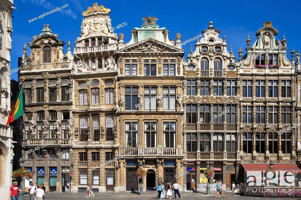 Stock Photo: Guildhalls, city hall square, old town, Brussels, Belgium / Grand Place, Grote Markt.