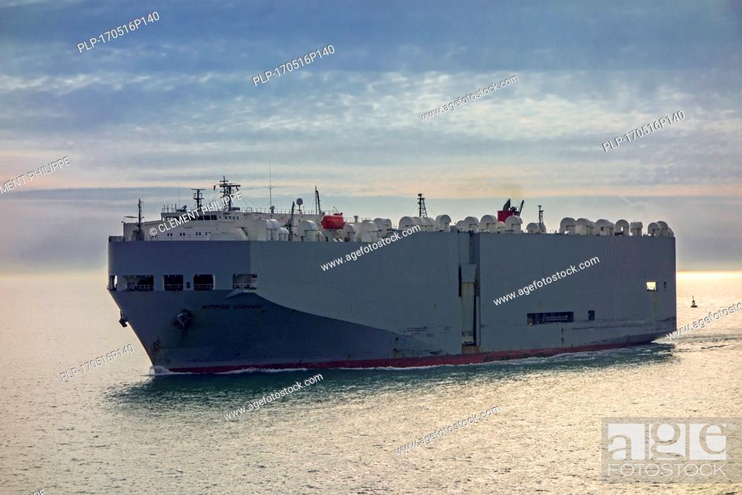 Imagen: Nippon Highway, vehicles carrier / cargo ship sailing.