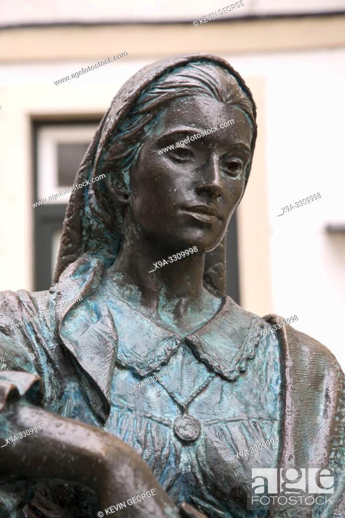 Stock Photo: Tricana Statue, Coimbra, Portugal.