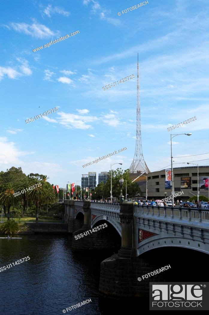 Stock Photo: Yarra River, Melbourne, Australia.