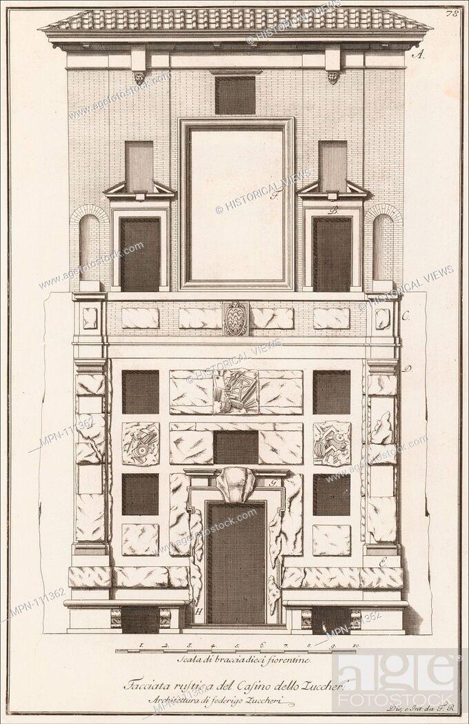Stock Photo: Scelta di architetture antiche e moderne della citta di Firenze opera gia data in luce, misurata, disegnata, ed intagliata dal celebre Ferdinando Ruggieri.