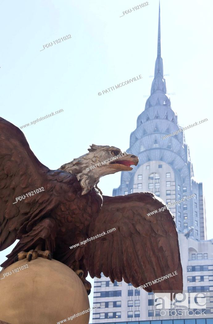 Stock Photo: Th American Bald Eagle has a 13-foot wingspan and once graced the former Grand Central Depot.