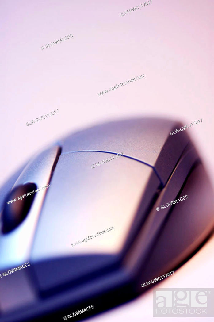 Stock Photo: Close-up of a computer mouse.