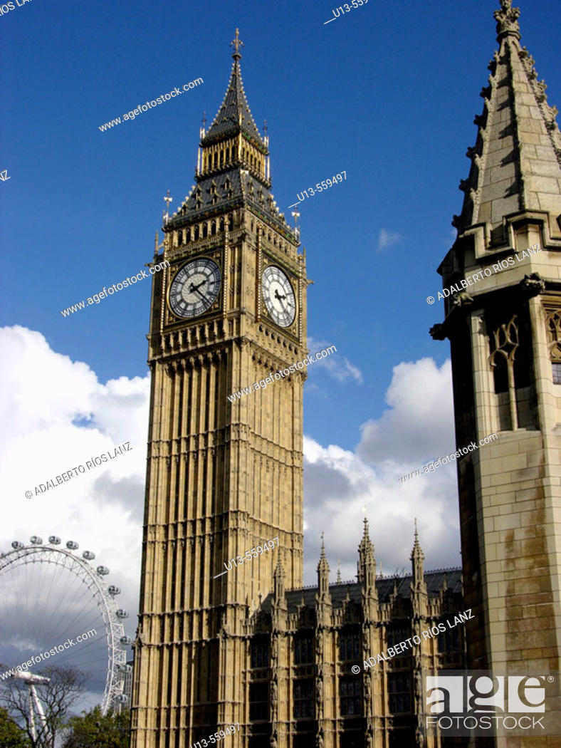 Stock Photo: Big Ben, London, England.