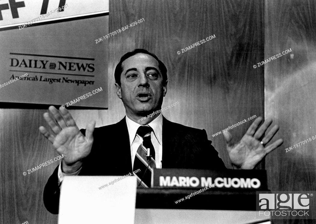 Stock Photo: Sep. 18, 1977 - Mario M. Cuomo lost the Democratic Party nomination for Mayor for New York at the Mayoral Runoff' 77 but stays in the race for the November.