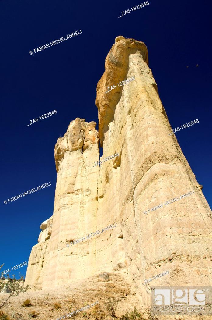Stock Photo: Fairy chimneys in Love Valley, Zemi Valley, in Cappadocia, Central Anatolia, Turkey.