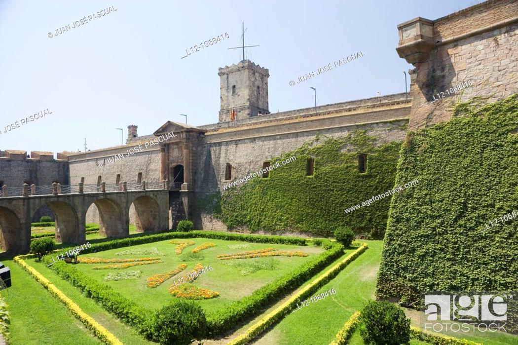 Stock Photo: Montjuic Castle, Barcelona, Catalonia, Spain.
