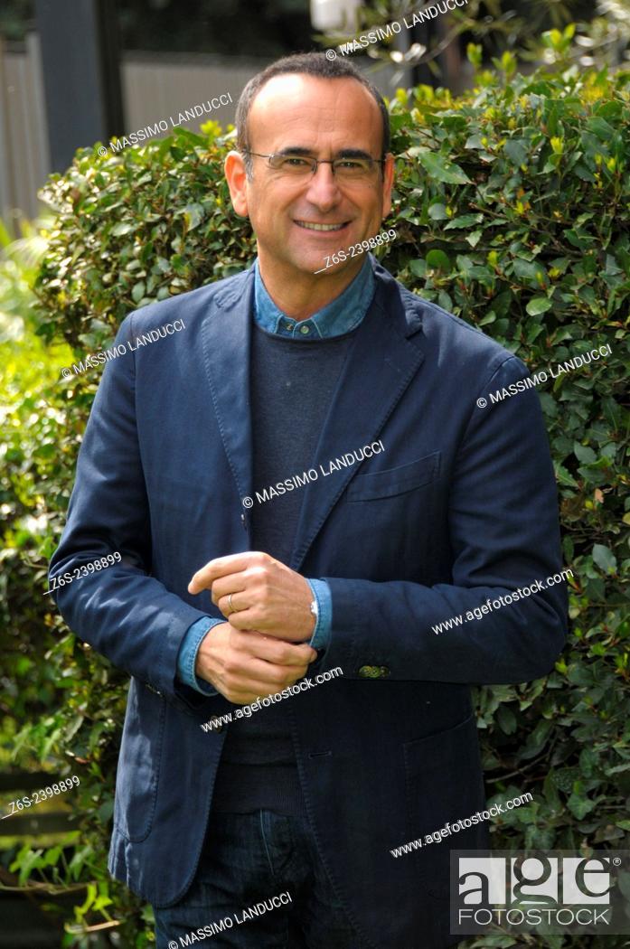 Stock Photo: Carlo Conti; Conti; presenter TV ; celebrities; 2015;rome; italy;event; photocall; Si può fare.