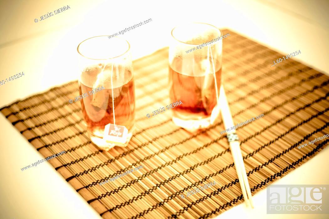 Stock Photo: Red tea.