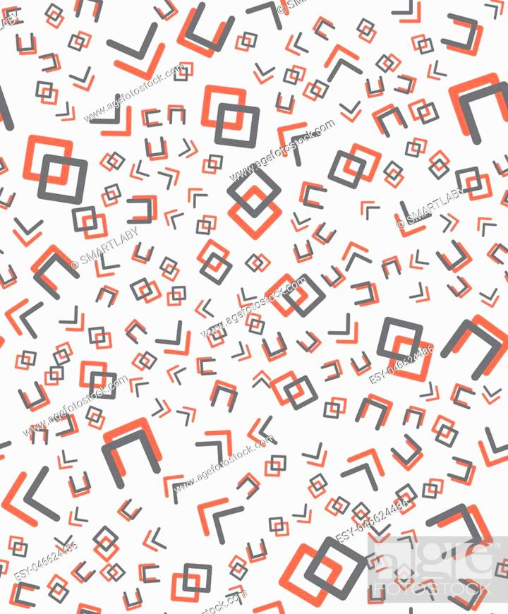 Vector: Geometric seamless vector pattern in memphis style.90s style.