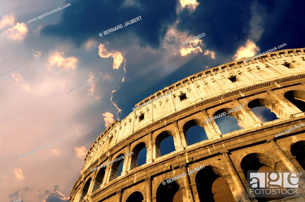 Stock Photo: Coliseum, Rome, Lazio, Italy, Europe.