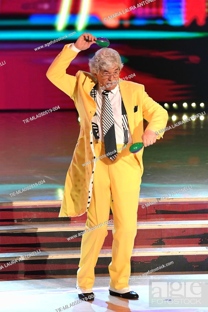 Imagen: Antonio Razzi during the performance at the tv show Ballando con le stelle (Dancing with the stars) Rome, ITALY-04-05-2019.