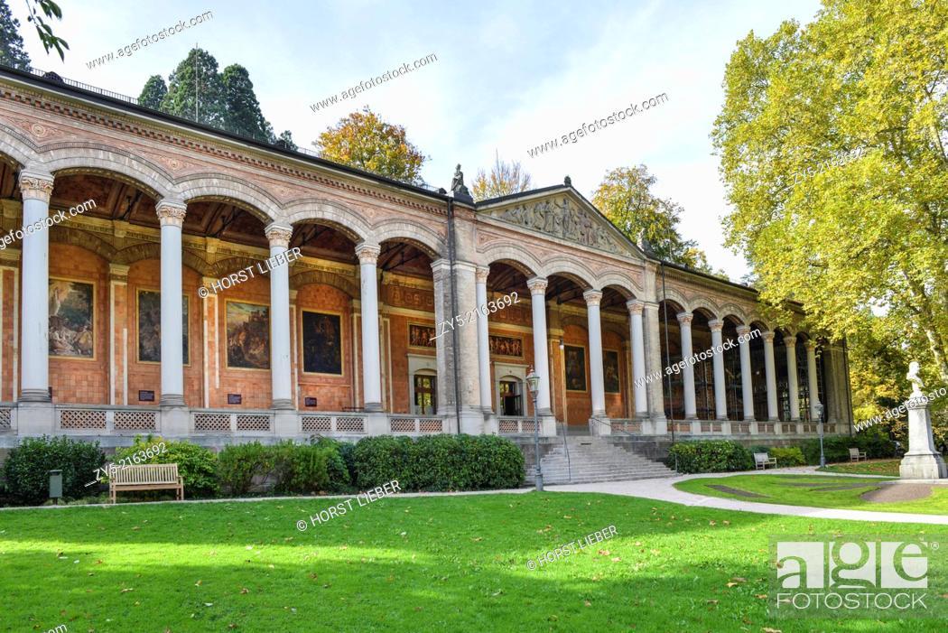 Stock Photo: Baden Baden drinking hall, Germany.