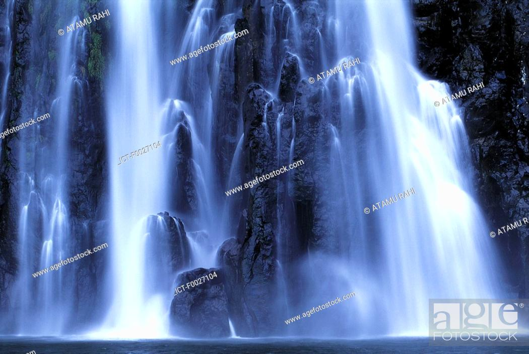 Stock Photo: Reunion, Sainte-Suzanne, so-called Niagara waterfall.