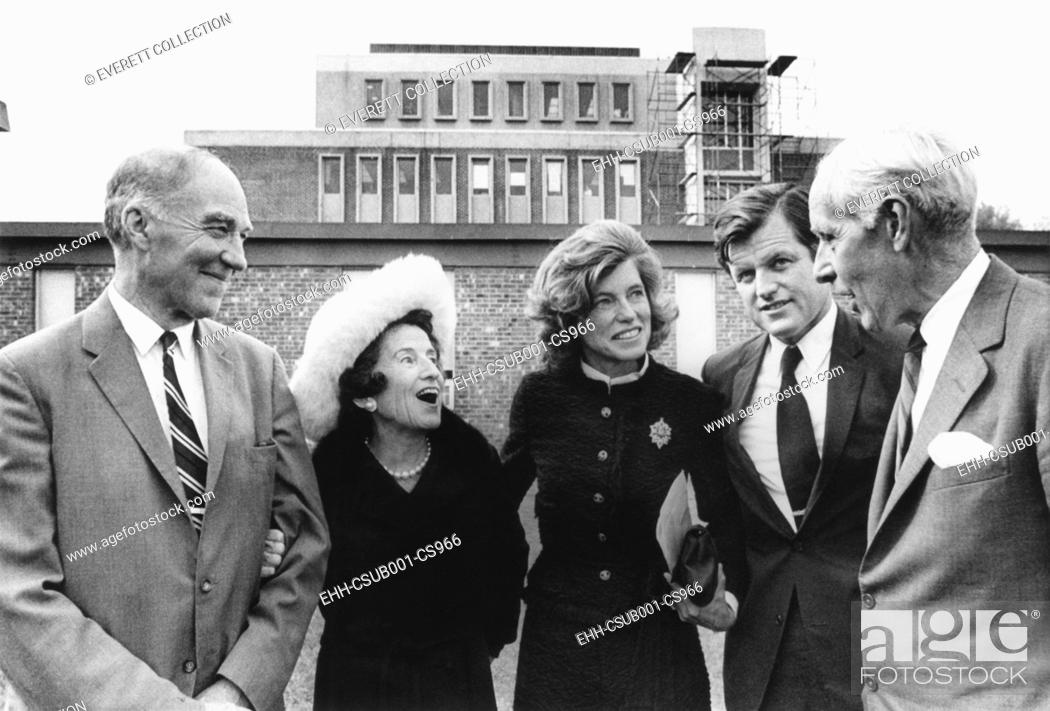 Kennedy family at Waltham Massachusetts for dedication of the Eunice